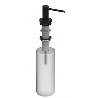 Inox Soap Dispenser Head In Matt Blackchrome - Fillable From The Top - 557