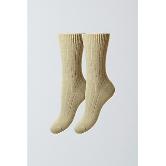 Cashmere women's socks - natural