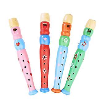 Enfants En bois Instrument de musique Jouet Piccolo Hooter Kids Coloré Safe Baby