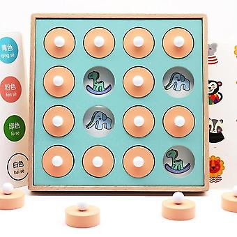 Wooden Memory Match Stick Chess Game - Fun Block Board, Educational, Color
