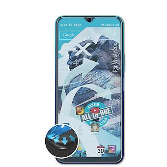 atFoliX 3x Protective Film compatible with Vivo Y20s Screen Protector clear&flexible