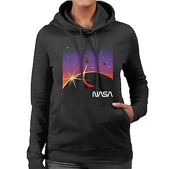 NASA Galactic Take Off Women's Hooded Sweatshirt