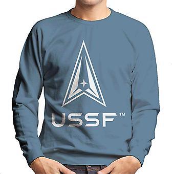 U.S. Space Force Light Logo USSF Light Text Men's Sweatshirt