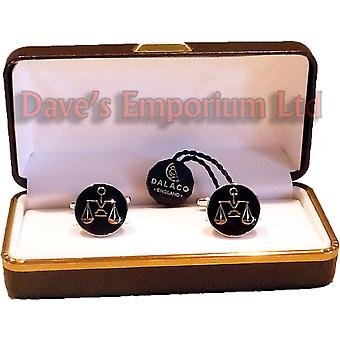 Scales of Justice Cufflinks by Dalaco - Gift Boxed - High Quality - Lawyer Libra