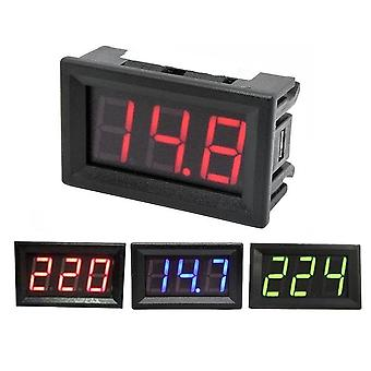 Digital Voltmeter Calibrate Reading Red Green Blue Led Display Voltage Meter