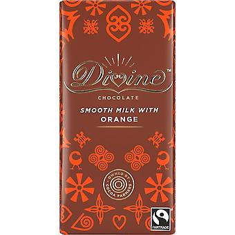 DivineFairtrade Milk Orange Chocolate 90g x15