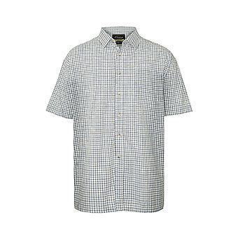 Walker and Hawkes - Mens Short Sleeved Cotton Check Shirt
