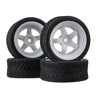 4ks 5 Lúče koleso list vzor gumové pneumatiky pre RC1:10 On-Road Car Biela