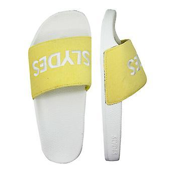 Slydes Plya Mens Slip On Sliders Open Toe Flip Flops Slides Yellow S0005S424 Z2B