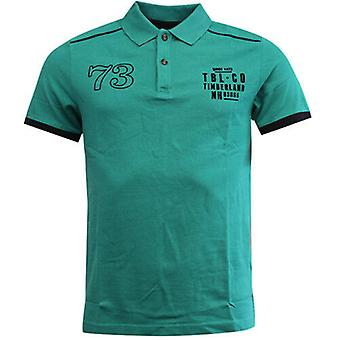 Timberland Earthkeepers Green Cotton Button Up Mens Polo Shirt 6002J 306 R23K