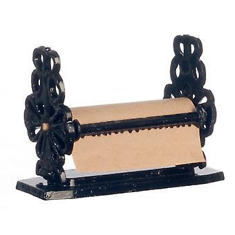 Dolls House Duży kute żelazne ręcznik papierowe Uchwyt miniaturowe akcesorium