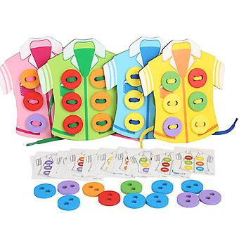 Children's clothing threading board