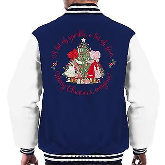 Holly Hobbie Christmas Sparkle og Sjov Mænd's Varsity Jacket