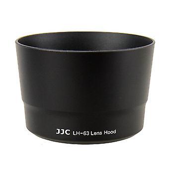 Capa de lente LH-63 para canon ef-s 55-250mm f/4-5.6 é stm substitui et-63 preto