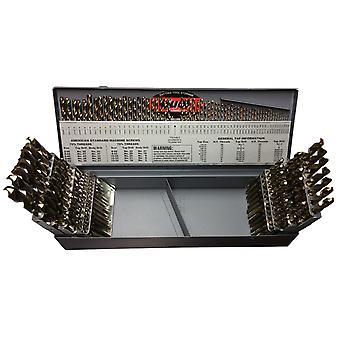 #1-60, A-Z & 1/16-1/2X64Ths Cobalt 115 Piece Jobber Drill Bit Set, Drill America, D/A115J-Co-Set
