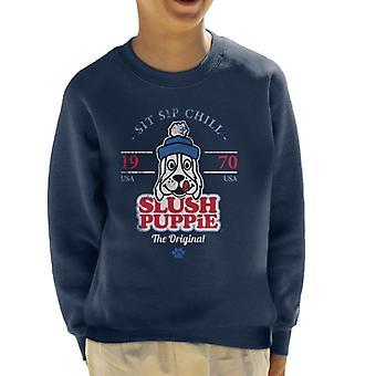 Slush Puppie Retro Sit Sip Chill Kid's Sweatshirt