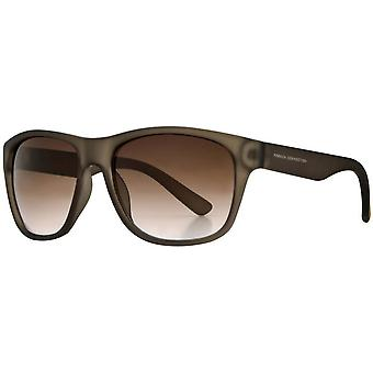 French Connection Classic Rectangle Sunglasses - Matte Brown