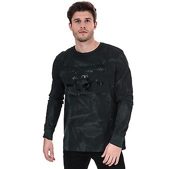 Men's True Religion Seasonal Buddha Long Sleeve T-Shirt in Black
