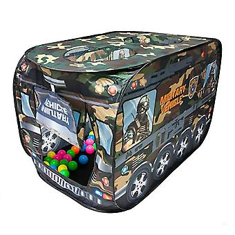 Speeltent militair voertuig - 50 ballenbakballen - 112x67x72 cm
