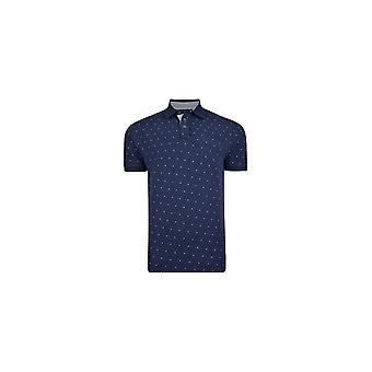 KAM Jeanswear Dobby Print Polo Shirt