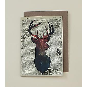 Deer Dictionary Art Card