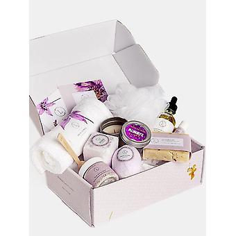 Nová prírodná levanduľová škatuľa - výrobky do kúpeľa a tela