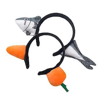 Carrot Hair Band,shark Headband,fashion Party Props