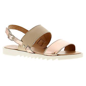 Dr Keller Dr Annie Womens Ladies Leather Flat Sandals Nude UK Size