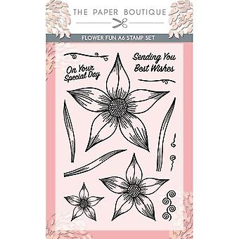 The Paper Boutique Flower Fun A6 Stamp Set
