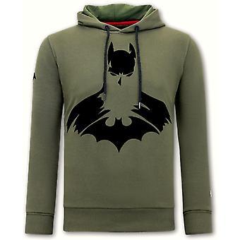 هوديي طباعة باتمان - الأخضر