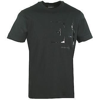 Emporio Armani große EA Logo schwarz T-Shirt