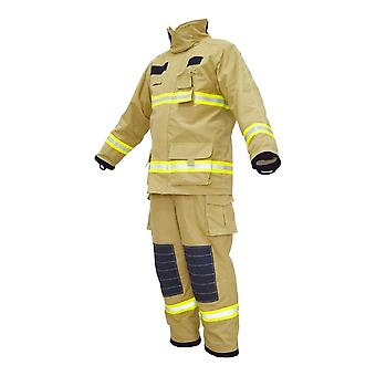 Yellow Fire Fighting Gear, Nomex Firefighter, Clothing Fireman Suits