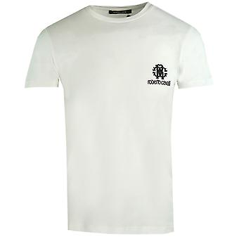 Roberto Cavalli RC Chest Logo White T-Shirt