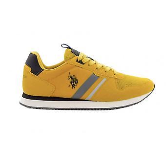 Sko U.s. Polo Sneaker Running Nobil 115 Ecosuede/ Nylon Ochre Men's Us21up04
