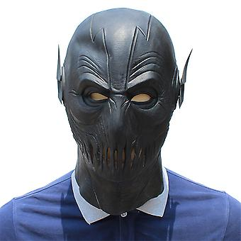 Zwarte Flash Man Masker Hoofddeksels Grappige Halloween Maskerade Party Kostuum Rekwisieten