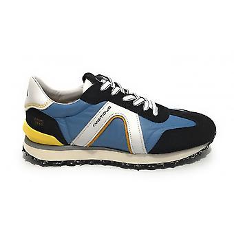 """حذاء رجالي طموح 11538 حذاء رياضي يعمل بـ""""البحرية الزرقاء"""" / جينز Us21am22"""