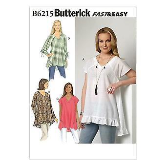 Butterick Ompelu kuvio 6215 Misses Naisten Raglan Hiha Topit Koko 4-14 Leikkaamaton