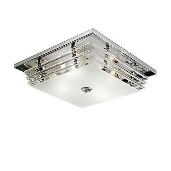 Estilo de vida patrón flush lámpara de techo pulido cromo, 4x E27