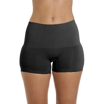 Camille Womens Black Seamfree Shapewear Comfort Control Short 2 Pack