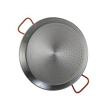paella panela 34 cm prata de aço