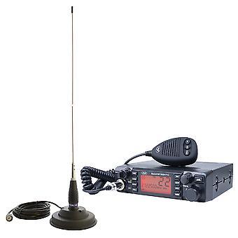 CB PNI ESCORT ESCORT HP 9001 PRO ASQ Radio Station Kit + CB PNI ML145 Antenna with 145 / PL Magnet