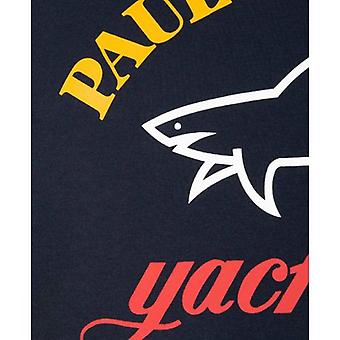 Paul and Shark T-Shirt tricolore Logo Crew Neck