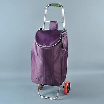 Woman Shopping Cart Foldable Shopping Basket Stairs Trailer Bags