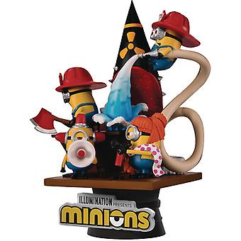 Minions Ds-049 Fire Fighter D-Stage Ser 6in Statue USA import