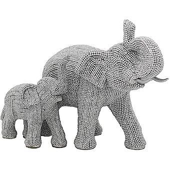 Silver Art Elephant & Calf av Leonardo