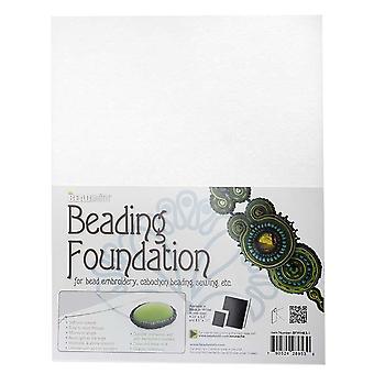 مؤسسة Beadsmith Beadsmith للخرز - لأعمال التطريز - أبيض 11x8.5 بوصة، ورقة واحدة
