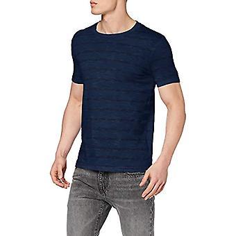 Marc O'Polo 22219051102 T-Shirt, Bleu (Multi/Turkish Sea T88), Small Homme