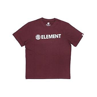 T-shirt à manches courtes Element Blazin en rouge vintage