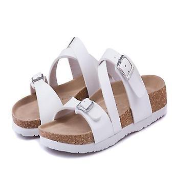 New Fashion Cork Summer Patchwork Beach Flip Flops Sandaali