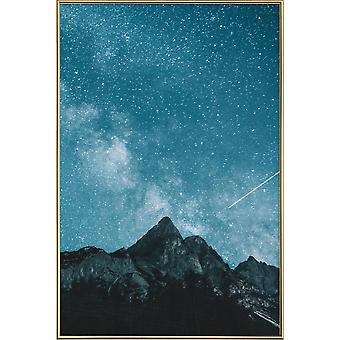 JUNIQE Print - Dream of Falling Stars @MichaelSchauer - Mountains Plakat i Grå & Turkis